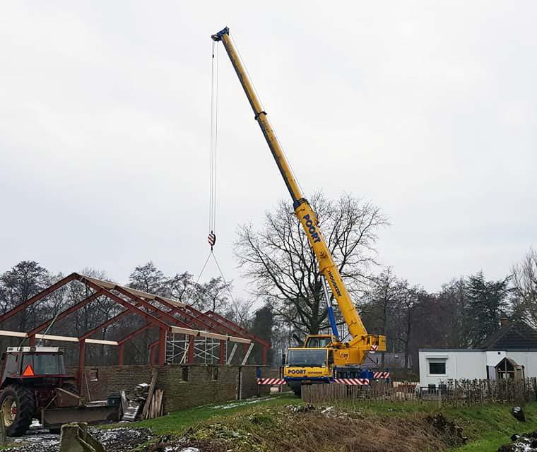 Telescoopkraan verhuur groningen, telekraan huren, Liebherr LTM 1060 Poort Hoogkerk